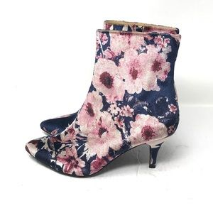 Anthropologie Farylrobin Floral Velvet Booties